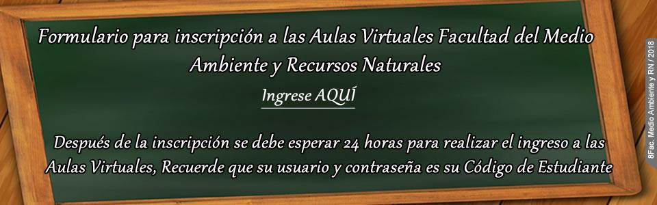 Inscripción Aulas Virtuales