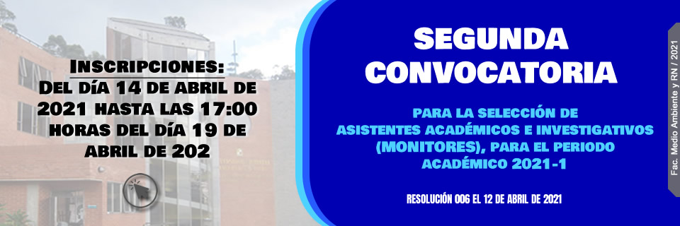 Convocatoria Monitores 2021-I