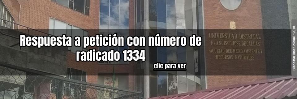 Respuesta a petición con número de radicado 13340