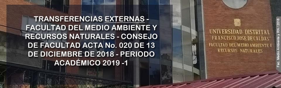TRANSFERENCIAS EXTERNAS-2019-I
