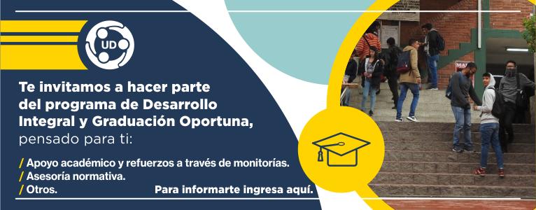 Invitación al programa de desarrollo integral y graduación oportuna