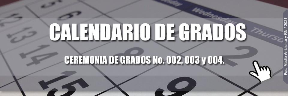 Calendario de grados 2021