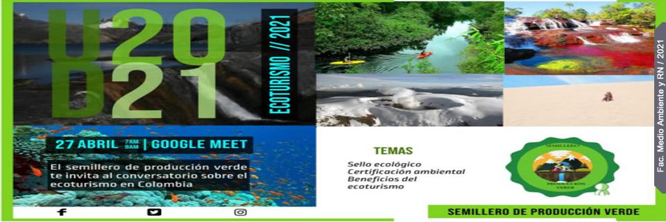 Conversatorio en Ecoturismo 2021 - Clic para más Información