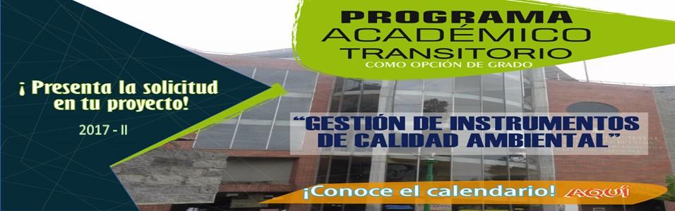 Calendario Extendido Programa Académico Transitorio 2017-II